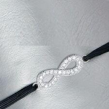 Bracelet Cord black GRAND INFINITY Symbol INFINITY + Geore Jewelry silver