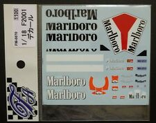 DECALS F'ARTEFICE FM-0070 1/18 FERRARI F2001 TOBACCO