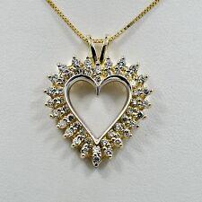 Diamond Heart Pendant 14K Yellow Gold 1.15Ct 5grams