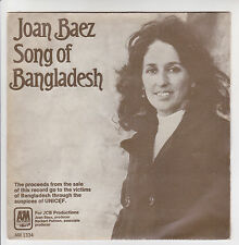 "Joan BAEZ 45T 7"" SP SONG OF BANGLADESH - PRISON TRILOGY - AM Records 1334 RARE"