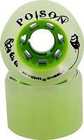 All Purpose Roller Derby Skate Wheels - Atom Poison  84A Full Set of 8