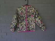 GIRLS COLUMBIA OMNI WICK RAIN JACKET WINDBREAKER COAT BUTTERFLY PRINT SMALL