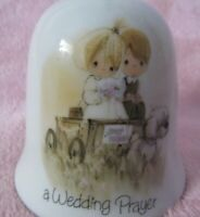 Precious Moments Wedding Prayer Bell Dated 1978 Esnsco sticker God's very best