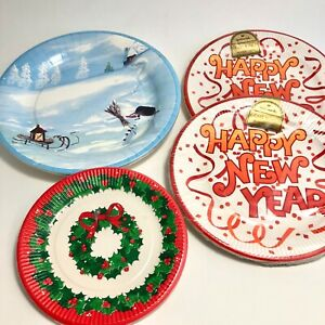 Holiday Paper Plates Assorted Size Lot of 4 Packages Vintage