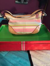 Coach Soho Hobo Multicolor Twil Striped Purse