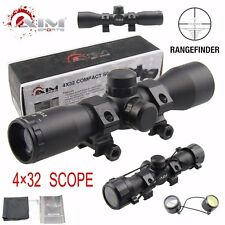 AIM SPORTS Tactical 4X32 Compact Rangefinder  .223 .308 Scope /w Rings