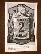 Calendario nella Camera mortuaria di Giuseppe Garibaldi con la data della morte