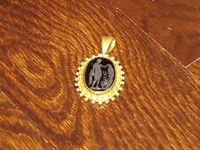 *Elizabeth Locke* 18K Yellow Gold Micro Mosaic Pendant for Necklace Signed