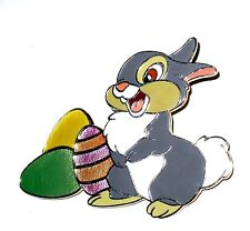 LE 100 Disney Pin✿Bambi Thumper Bunny Rabbit Easter Eggs Colorful RARE Sparkle