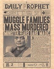 Harry Potter Daily Prophet Muggle Families Mass Murdered Poster/Flyer Replica