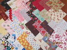 """40 x 5"""" CHARM SQUARES  Beautiful Flowers 100% Cotton Fabric Sewing Material No.2"""