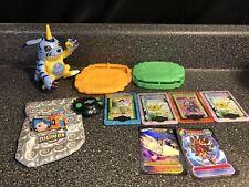 Vtg Lot Gabumon Digimon Talking Fig Bandai Marble Bag Metal Cards Holders Watch