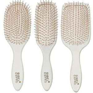 Sibel COPRO Paddle Hair Brushes - Professional Wooden Body & Copper Bristles