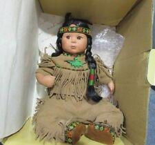Original Gregory Perillo Porcelain Doll-Children of the Plains, Brave & Free Q40