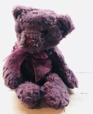 "RUSS BERRIE ~ BEARS FROM THE PAST ~ BEARBERRY (4644) 16"" Purple Teddy Plush ~NEW"