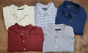Mens Lot of 5 Ralph Lauren Button Down Dress Plaid Shirts Size 3XLT EXCELLENT