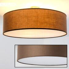 Luce Soffitto Paralume Bianco Tessuto Marrone Illuminazione Sala Camera Letto