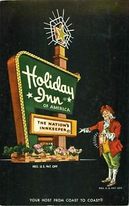 """Holiday Inn Morristown Tennessee Vintage 1968 Postcard 3.5""""x5.5"""" Sign Hyway 11E"""