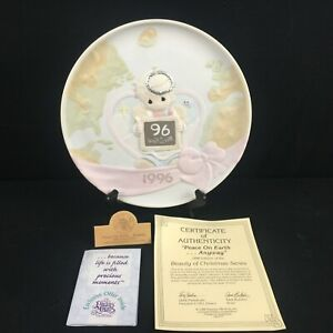Collector Plate Precious Moments Peace On Earth Anyways Beauty of Christmas 1996