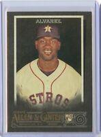 2020 Topps Allen & Ginter X YORDAN ALVAREZ Base Rookie SP - Houston Astros