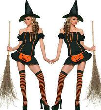 2017 Halloween Sexy Cosplay Women Costume Prop Fancy Pumpkin Dress Witch