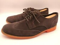 $180 Cole Haan Men's Brown Suede Leather Wingtip Shoes Oxfords Size 11.5 M