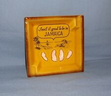 """VINTAGE JAMAICAN ASHTRAY - """"Isn't it great to be in Jamacia"""" - Rare Collectible!"""