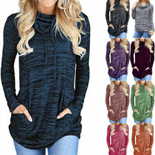 Womens Long Sleeve Tunic Tops Pullover Sweatshirt Loose T Shirt with Pockets