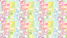 Makower Patchwork Fabric Uptown Rainbow Rectangles White - Per 1/4 Metre