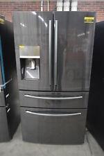 "Samsung RF28JBEDBSG 36"" Black Stainless French Door Refrigerator NOB #33849 HRT"