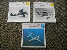 Netherlands Reconnaissance Observation Military Warplanes Aircraft Lot 3 Cards