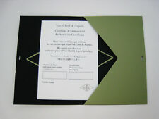 Van Cleef & Arpels Certificate of Authenticity in Folder for Collection