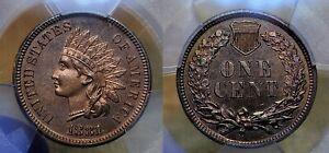 1881 Proof Indian Head Cent 1c PCGS PR 65 RB