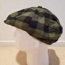 Mens Black and Green Checkered Cotton Newsboy Ivy Button Hat Cap Size XL ~  NWT cb8b29089010