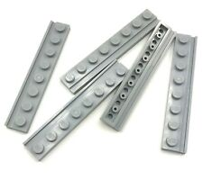 Lego 5 New Light Bluish Grey Plates Modified 1 x 8 with Door Rail  Pieces