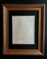 PABLO PICASSO ORIGINAL 1962 SIGNED SUPERB ENGRAVING MATTED 11 X 14 + LIST $695