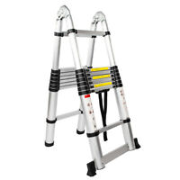 12.5/16.5FT Telescoping Ladder Aluminum Telescopic Extension Multi Purpose