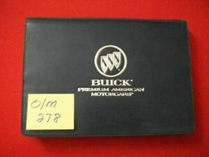 1996 96 GM BUICK PARK AVENUE OWNER'S MANUAL & CASE #25639451A ALL MODELS VGC