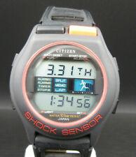 "K979⭐⭐ Vintage "" Citizen Bullhead "" Digital Armbandur Quartz Shock Sensor ⭐⭐"