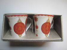 222 Fifth Latte Mugs Set of Two 10 Oz Microwave Dishwasher Safe
