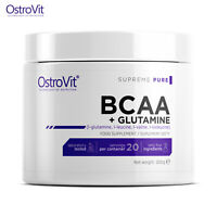 BCAA + L-GLUTAMINE 200g Amino Acids Muscle Development Anti-Catabolic Recovery