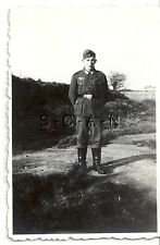 WWII German RP- Army Soldier- Uniform- Belt Buckle- Boots- Overseas Hat- 1940s
