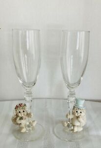 1997 Dreamsicles Bridal Collection wedding flutes. Beautiful pair Used Only Once