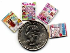 DOLLSHOUSE  Mini Fun - 1:24   Sewing / Quilting   MAGAZINES - 1/24 scale OPENING