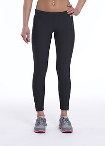 Ladies Gym Leggings Womens Black Full Leg Sports Fitness Active Running Pants Si