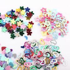 Mixed 5000Pcs Plastic Glitter Heart Star Flower Sequins Sticker Decal Nail Art