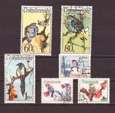 Tschechoslowakei = Mi-Nr. 2110-2115 gestempelt = Vögel / Singvögel