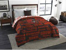 Cleveland Browns Twin Full Size Bedroom Bedding Comforter NFL Sports Team Logo