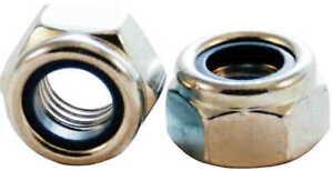 METRIC FINE & EXTRA FINE STEEL HEX. HEAD NYLON LOCK NUTS M10 M12 M14 M16 M18 M20
