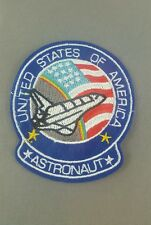 United States of America  Astronaut emroidered  iron on /sew on badge